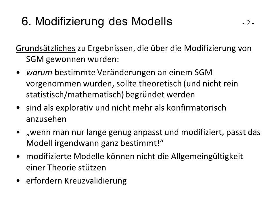 6. Modifizierung des Modells - 2 -