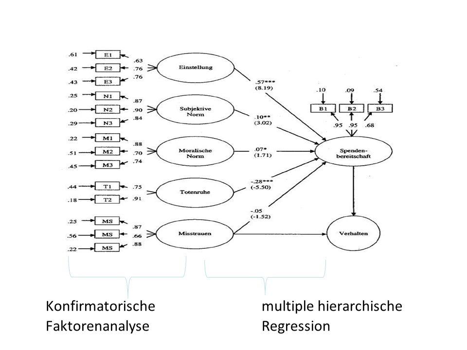 Konfirmatorische multiple hierarchische Faktorenanalyse Regression