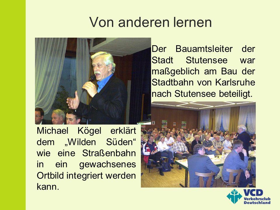Von anderen lernenDer Bauamtsleiter der Stadt Stutensee war maßgeblich am Bau der Stadtbahn von Karlsruhe nach Stutensee beteiligt.