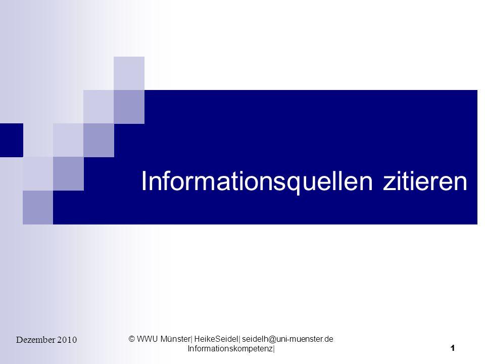 Informationsquellen zitieren