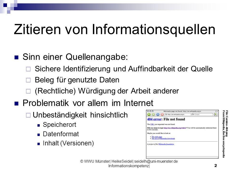 Zitieren von Informationsquellen