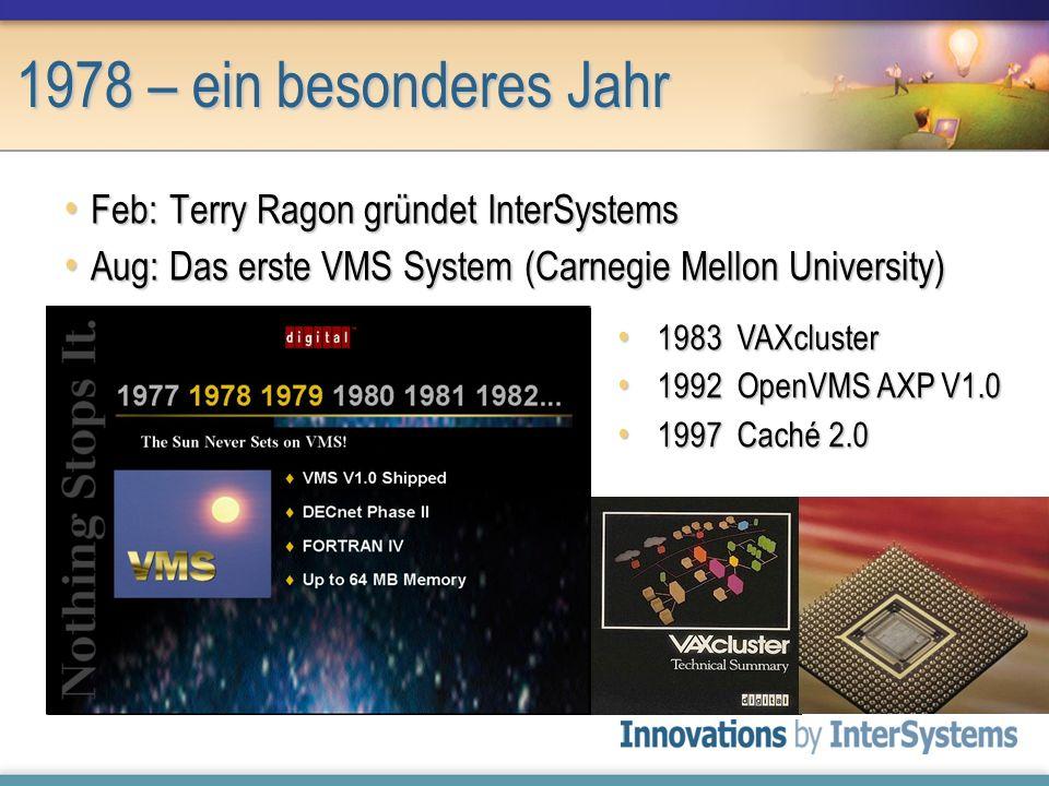 1978 – ein besonderes Jahr Feb: Terry Ragon gründet InterSystems