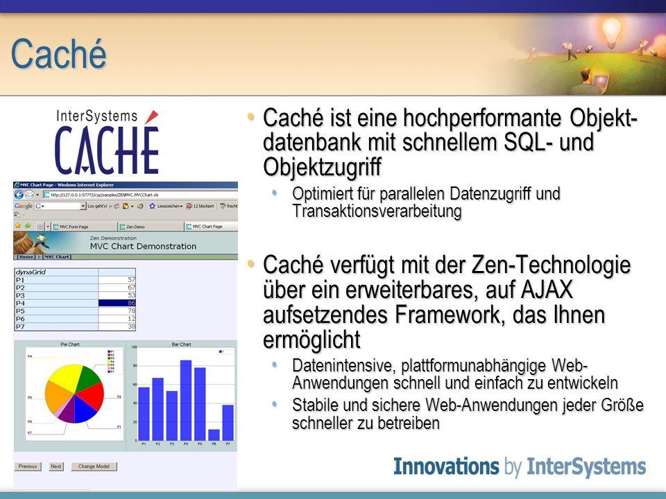 Caché Caché ist eine hochperformante Objekt-datenbank mit schnellem SQL- und Objektzugriff.