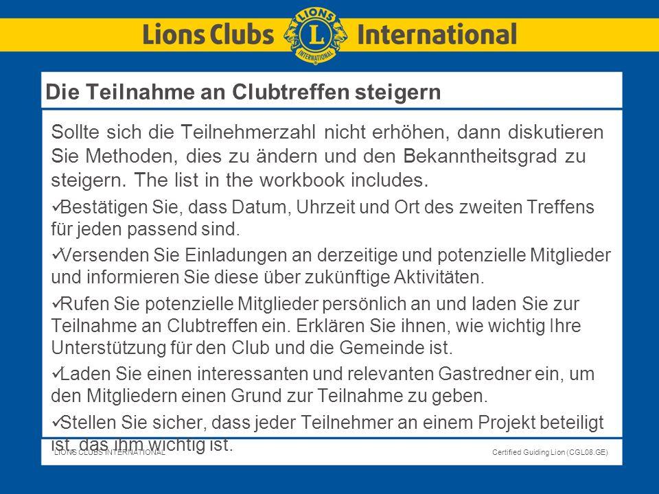 Die Teilnahme an Clubtreffen steigern