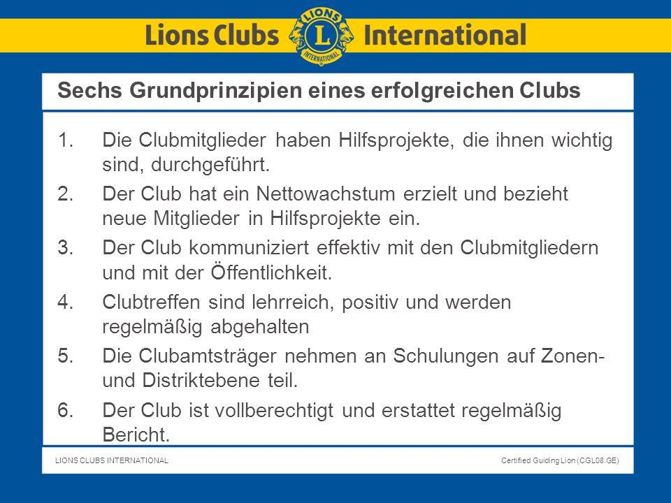 Sechs Grundprinzipien eines erfolgreichen Clubs