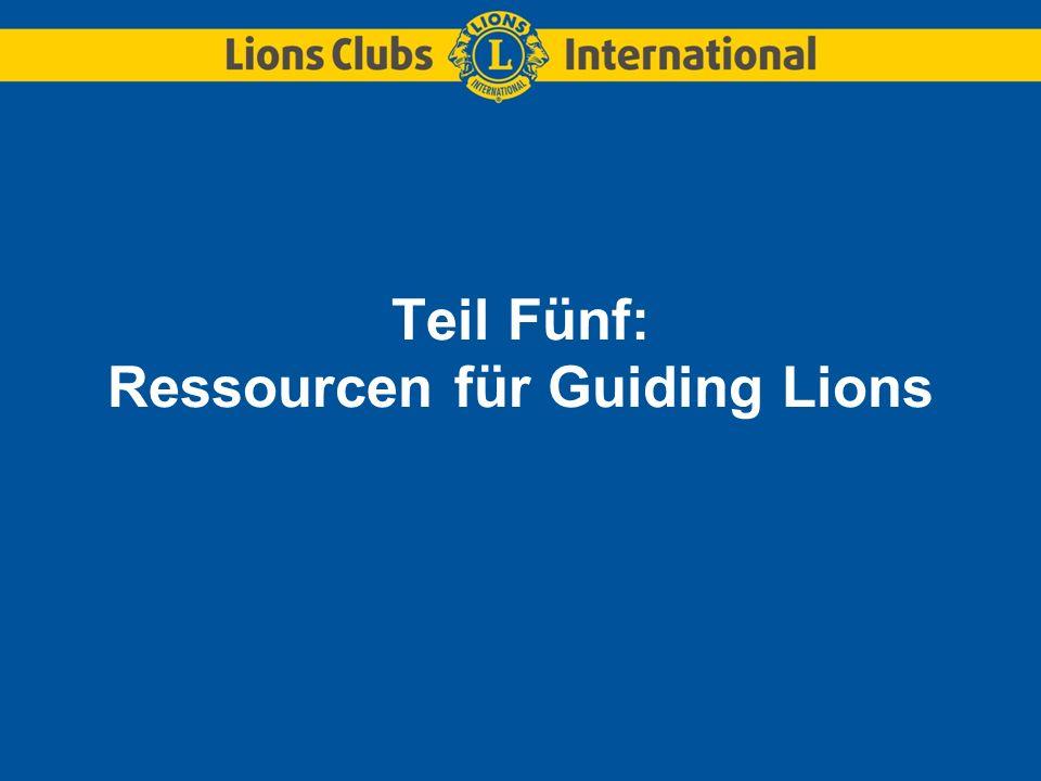 Teil Fünf: Ressourcen für Guiding Lions