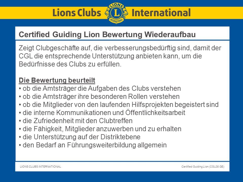 Certified Guiding Lion Bewertung Wiederaufbau