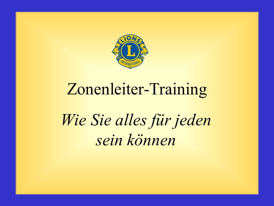 Zonenleiter-Training