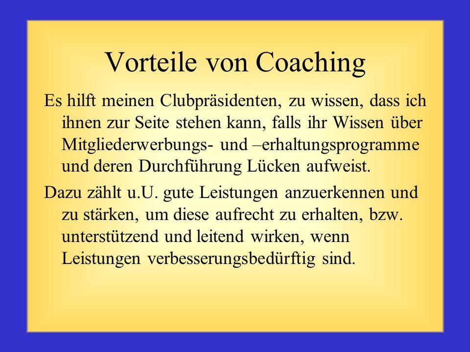 Vorteile von Coaching