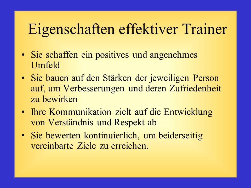 Eigenschaften effektiver Trainer