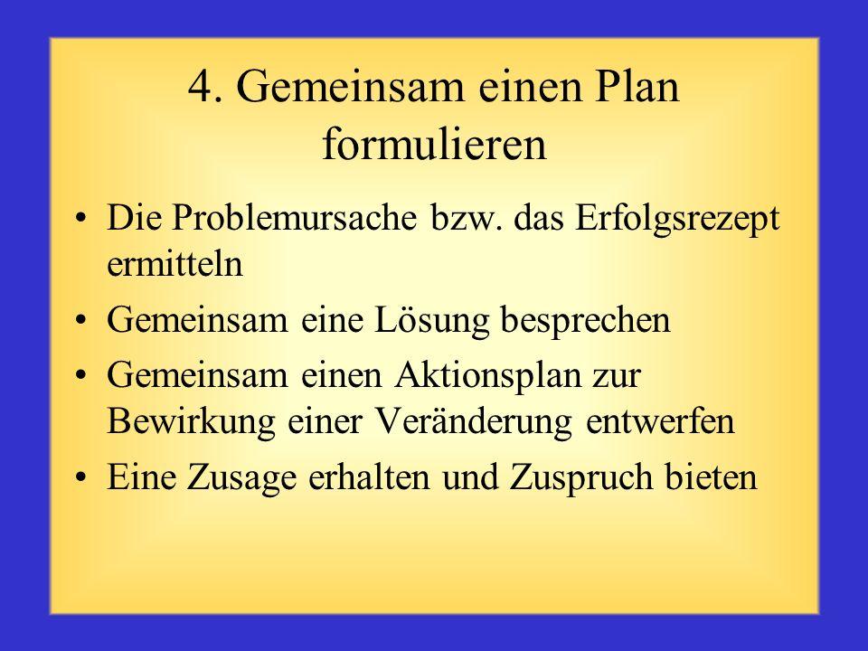 4. Gemeinsam einen Plan formulieren