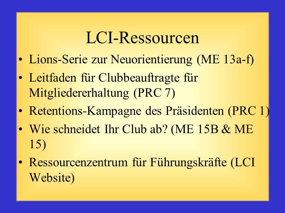LCI-Ressourcen Lions-Serie zur Neuorientierung (ME 13a-f)