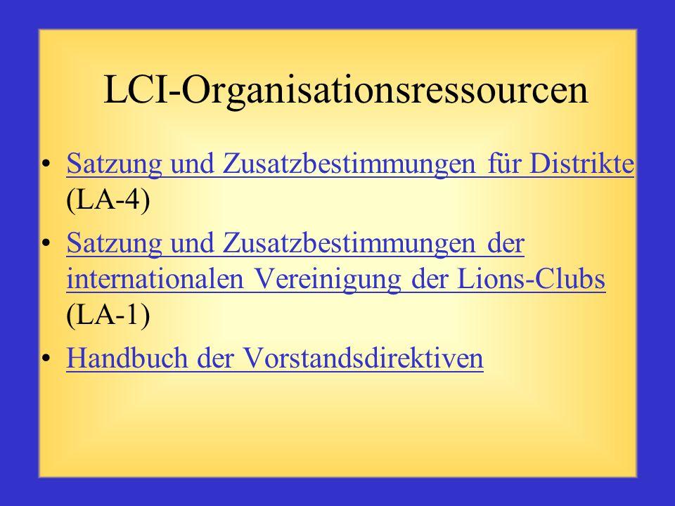 LCI-Organisationsressourcen
