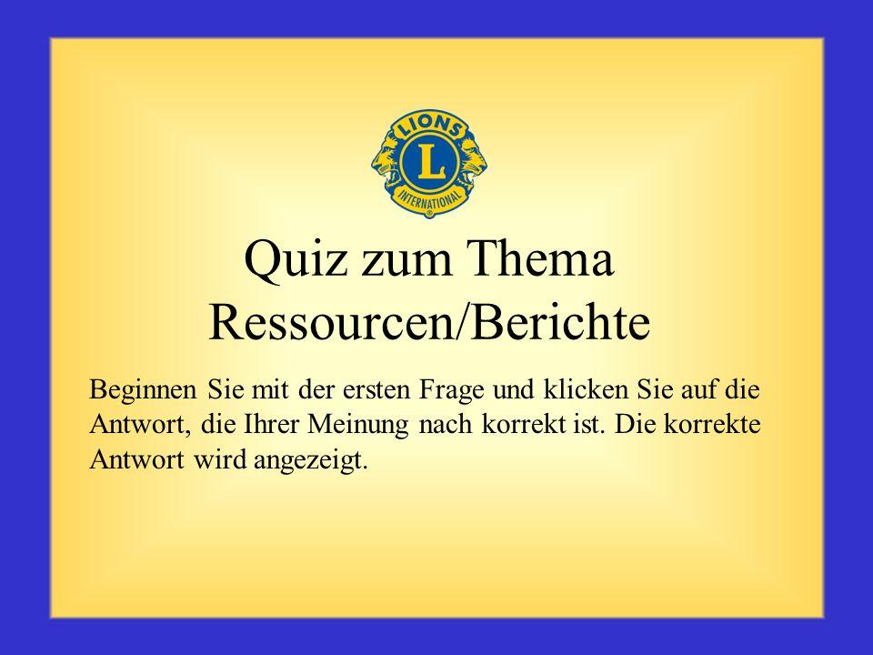 Quiz zum Thema Ressourcen/Berichte