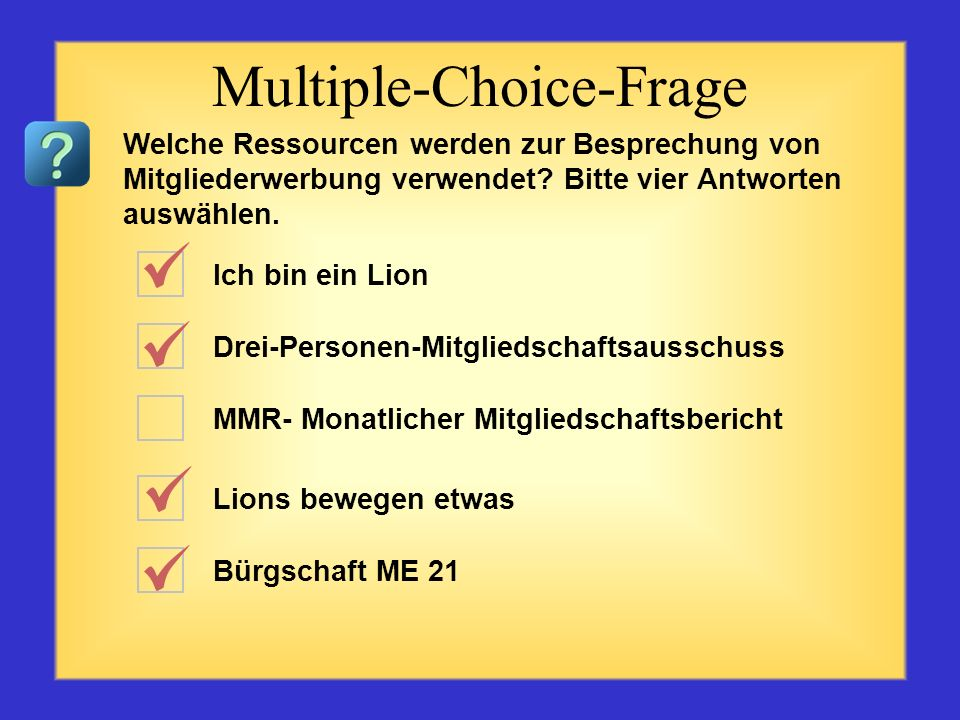Multiple-Choice-Frage