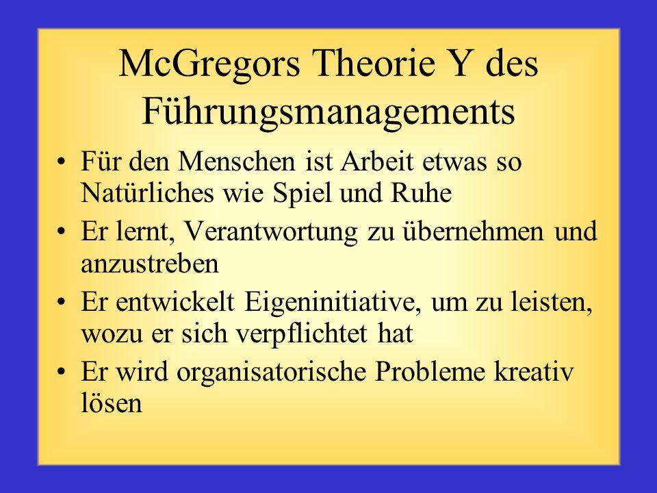 McGregors Theorie Y des Führungsmanagements