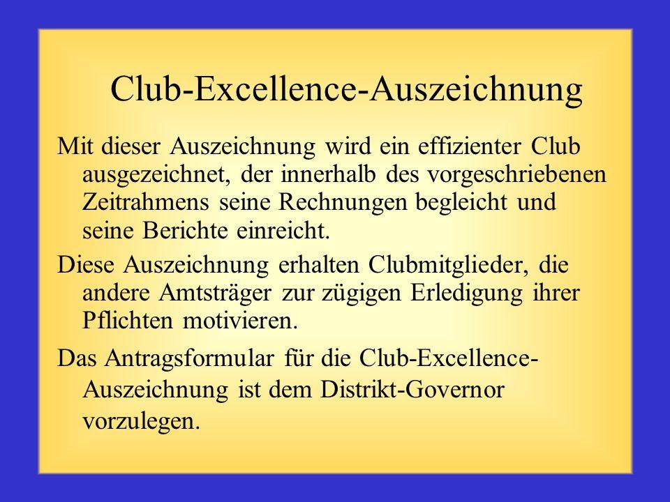 Club-Excellence-Auszeichnung