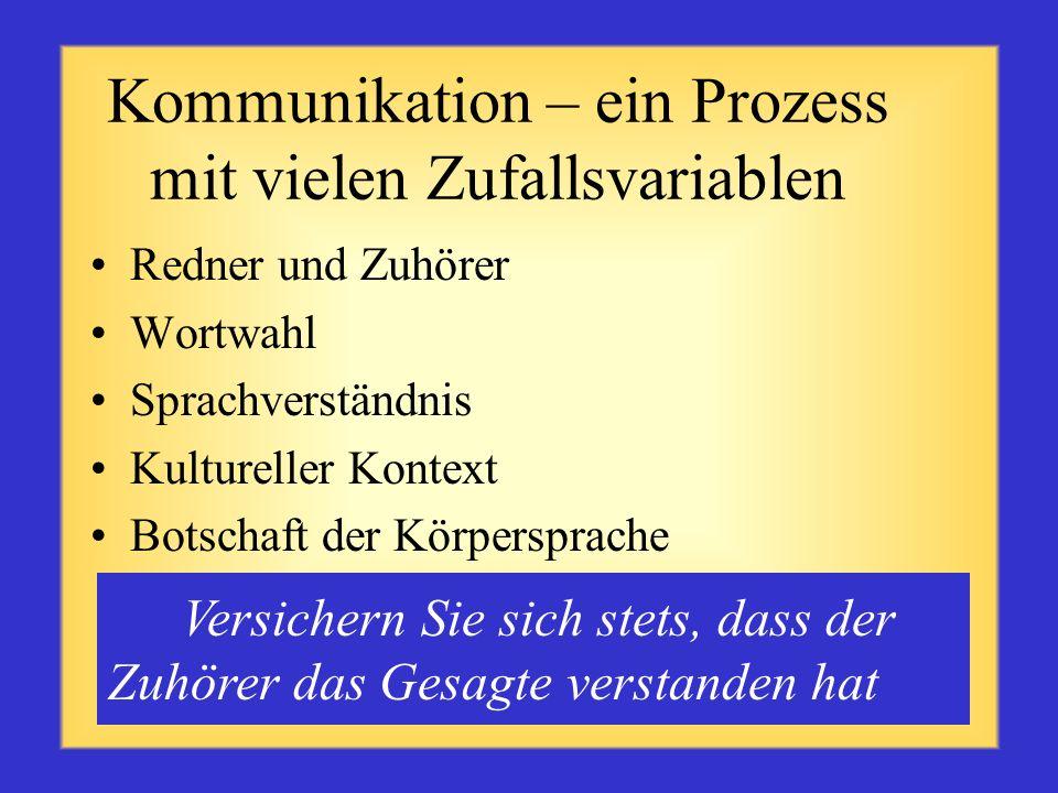 Kommunikation – ein Prozess mit vielen Zufallsvariablen