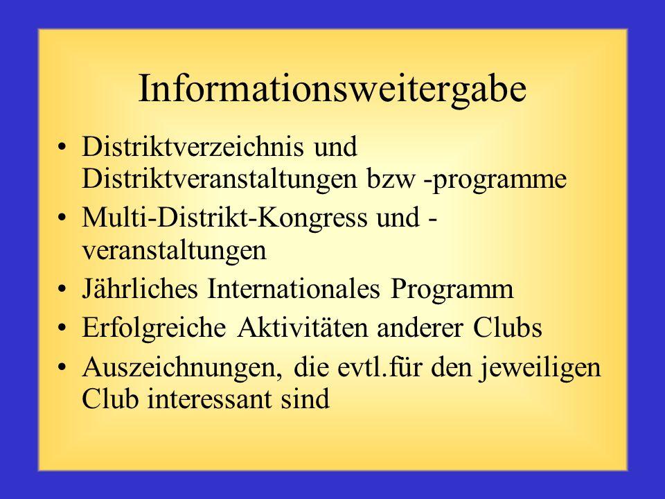 Informationsweitergabe