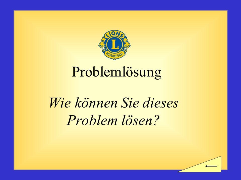 Wie können Sie dieses Problem lösen