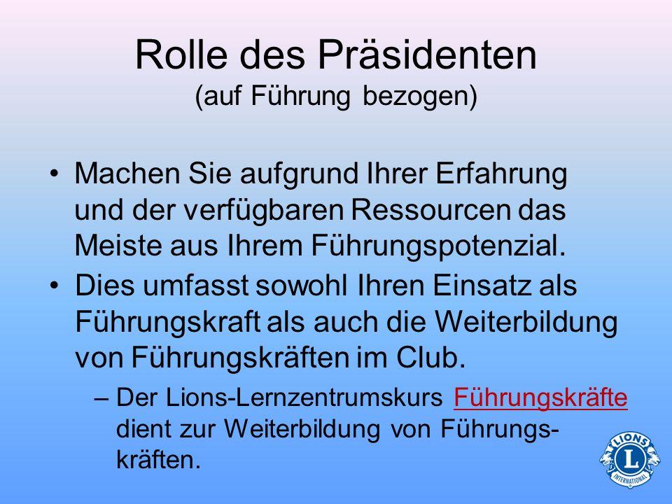Rolle des Präsidenten (auf Führung bezogen)