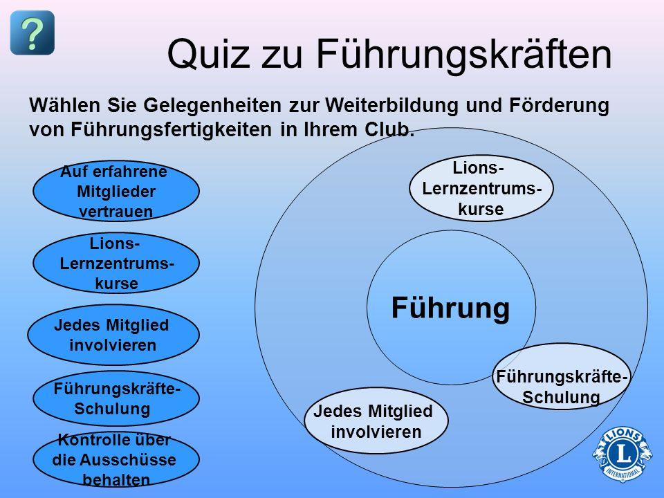 Quiz zu Führungskräften