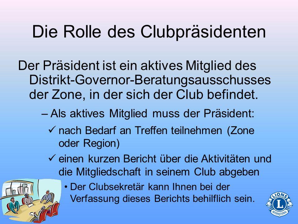 Die Rolle des Clubpräsidenten