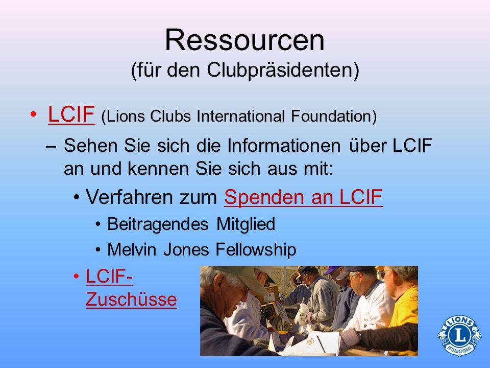 Ressourcen (für den Clubpräsidenten)