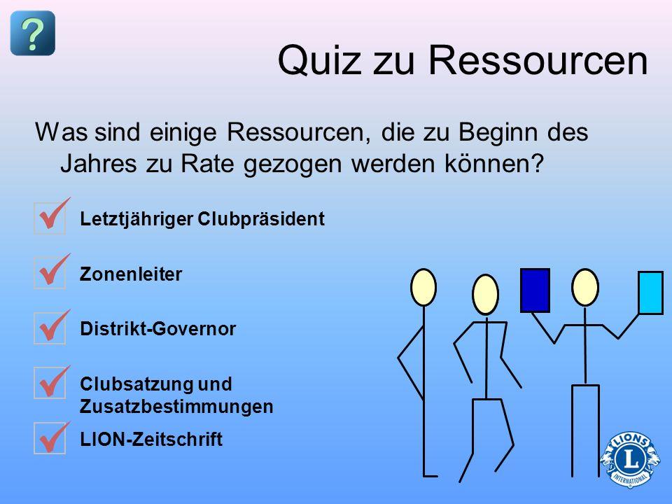 Quiz zu Ressourcen Was sind einige Ressourcen, die zu Beginn des Jahres zu Rate gezogen werden können