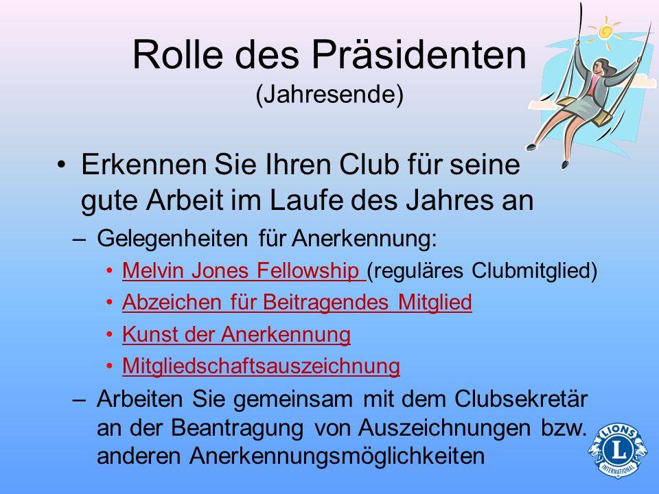 Rolle des Präsidenten (Jahresende)