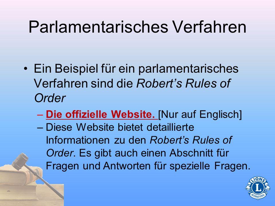 Parlamentarisches Verfahren