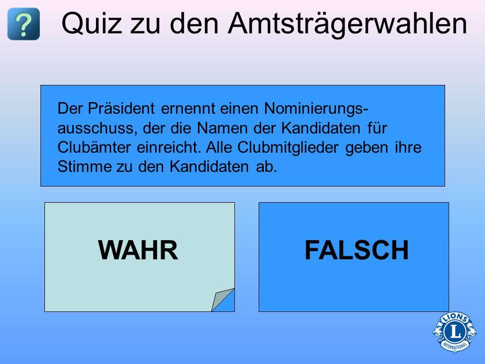 Quiz zu den Amtsträgerwahlen