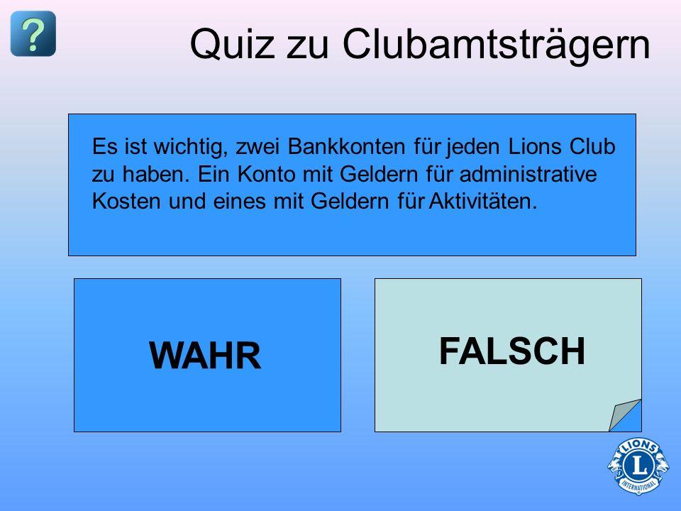 Quiz zu Clubamtsträgern