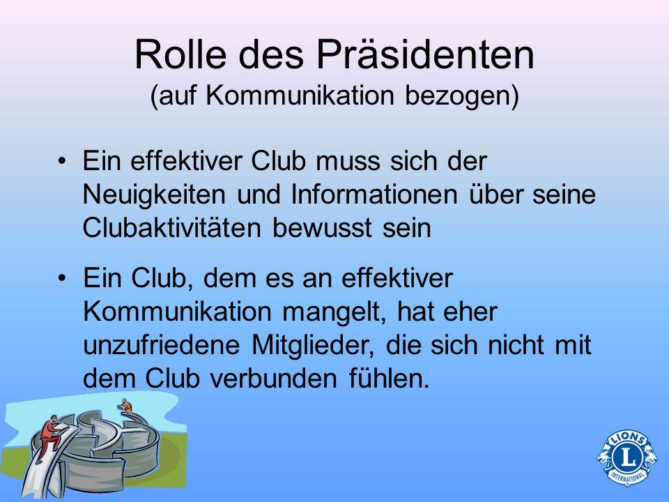 Rolle des Präsidenten (auf Kommunikation bezogen)