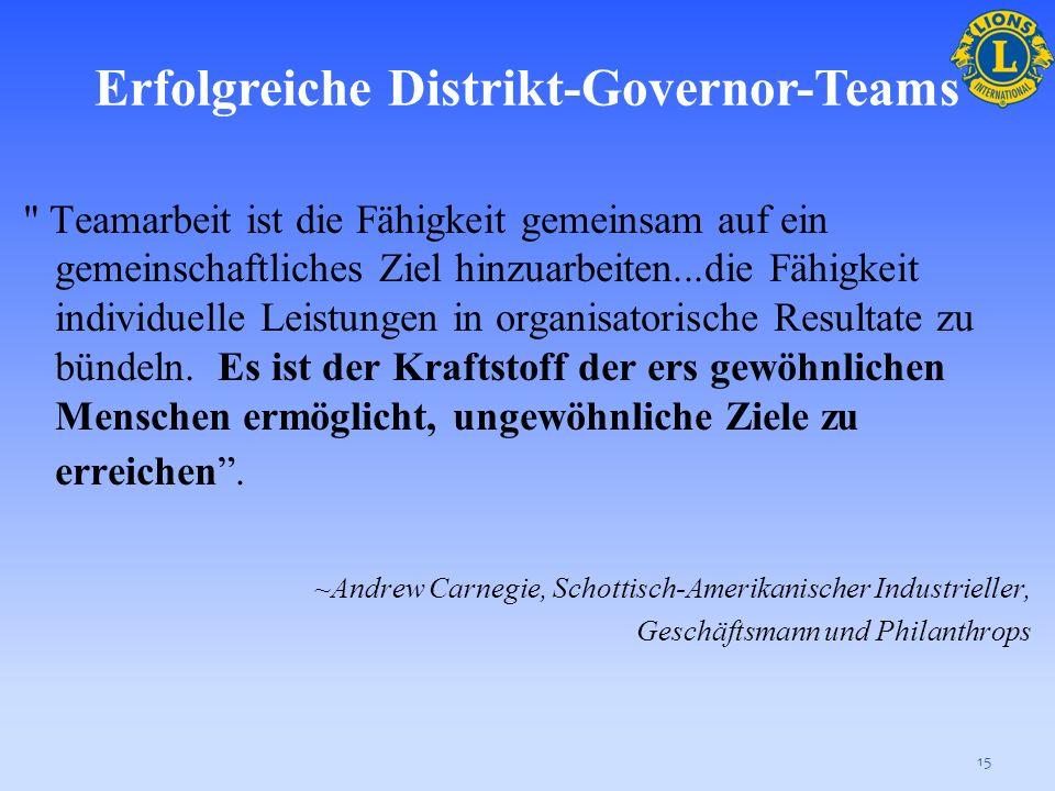Erfolgreiche Distrikt-Governor-Teams