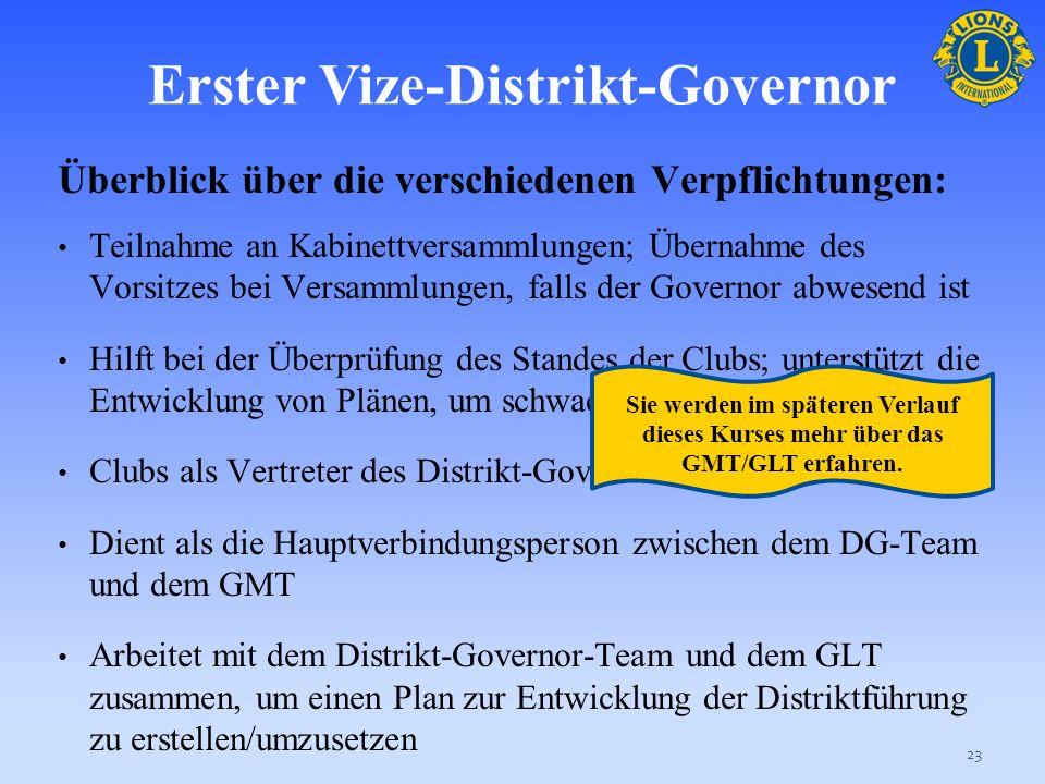 Erster Vize-Distrikt-Governor
