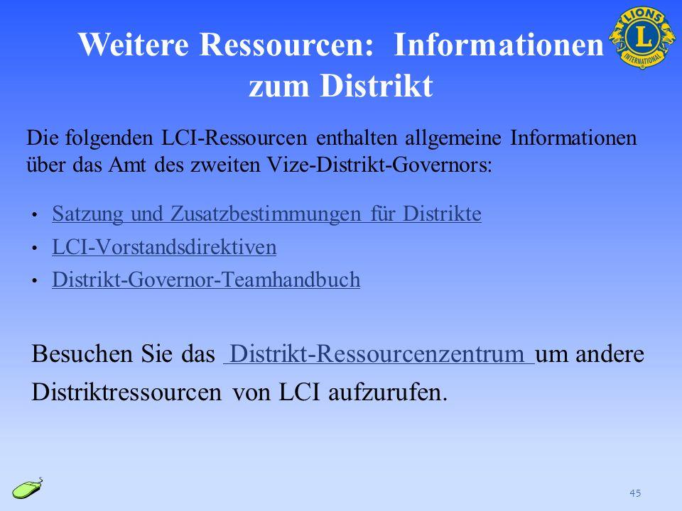 Weitere Ressourcen: Informationen zum Distrikt