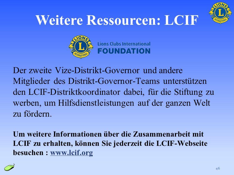 Weitere Ressourcen: LCIF