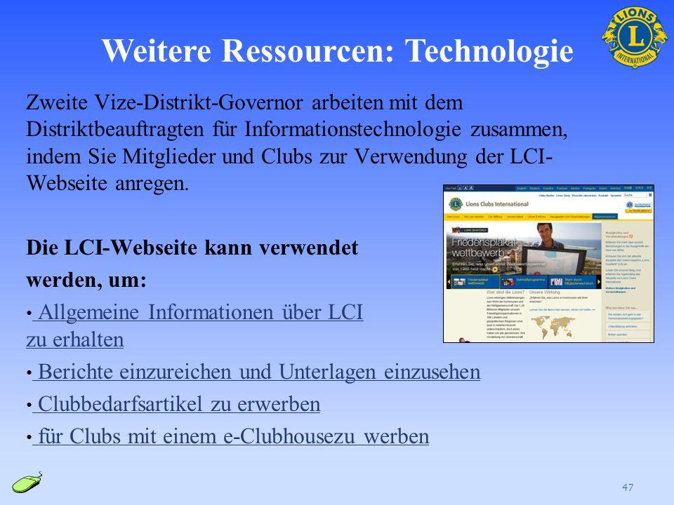Weitere Ressourcen: Technologie