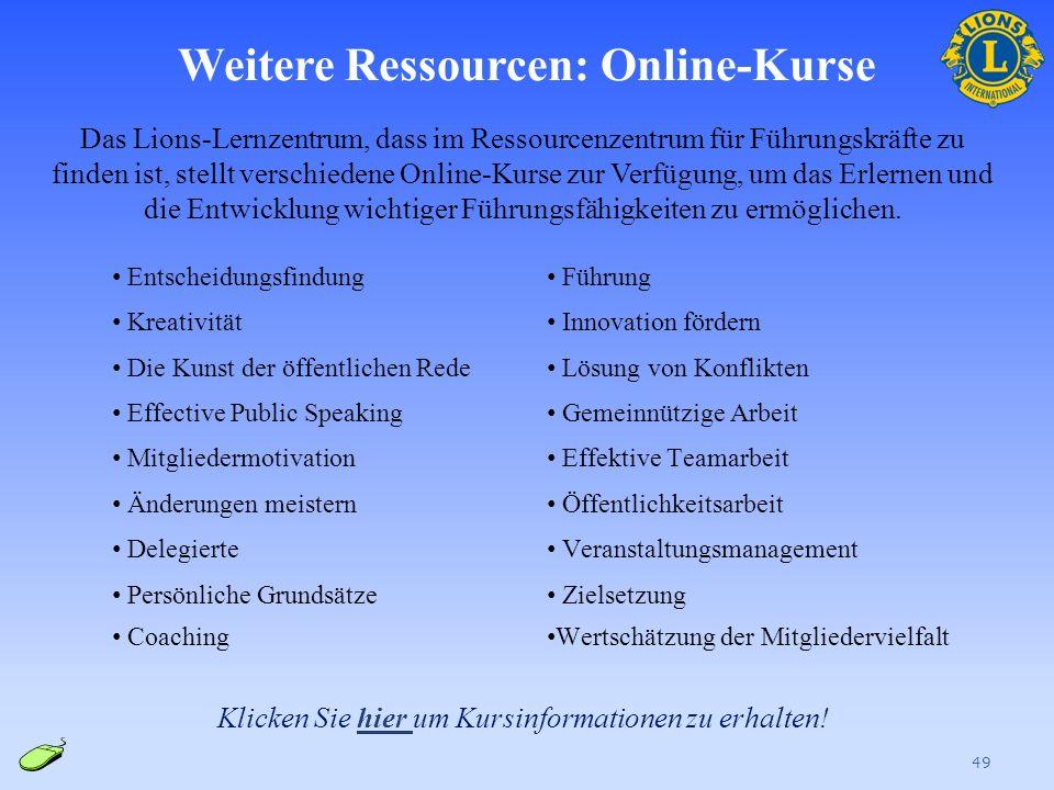 Weitere Ressourcen: Online-Kurse