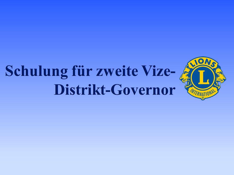 Schulung für zweite Vize-Distrikt-Governor