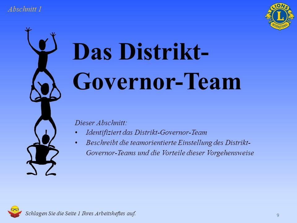 Das Distrikt-Governor-Team