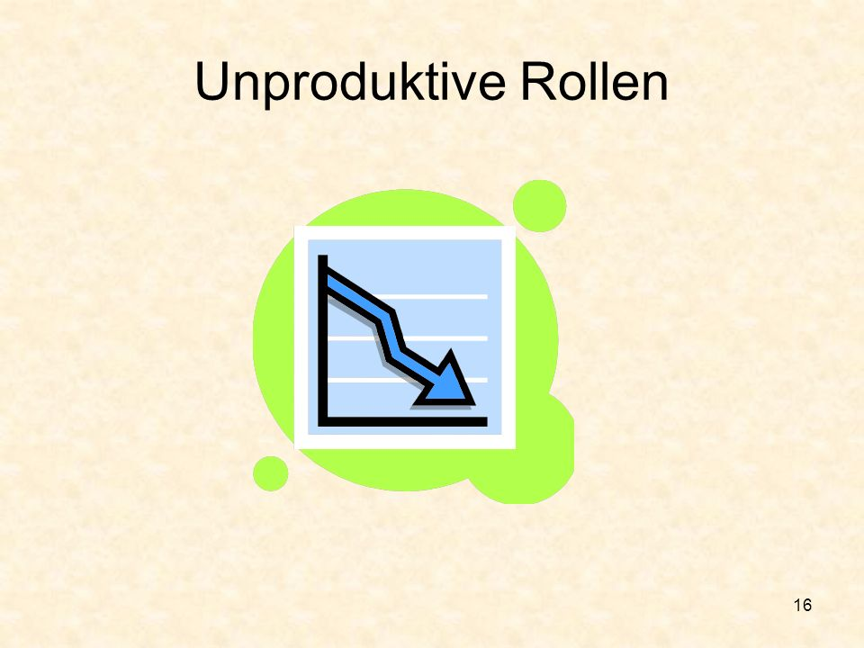 Unproduktive Rollen