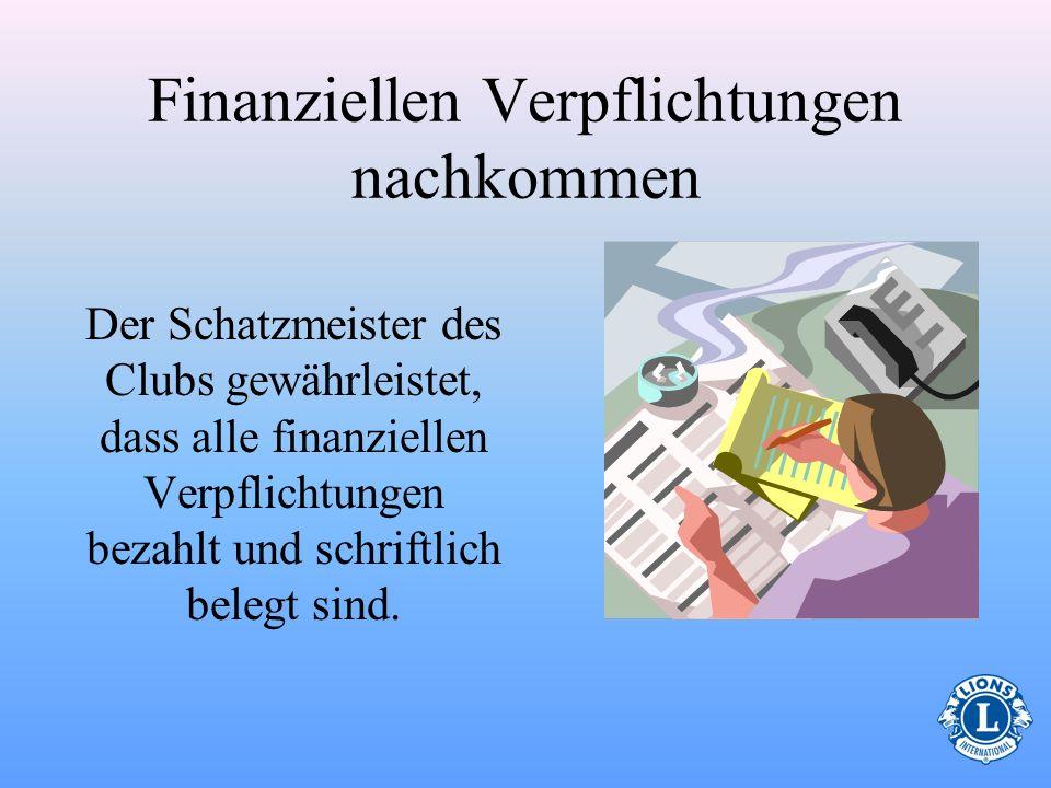 Finanziellen Verpflichtungen nachkommen