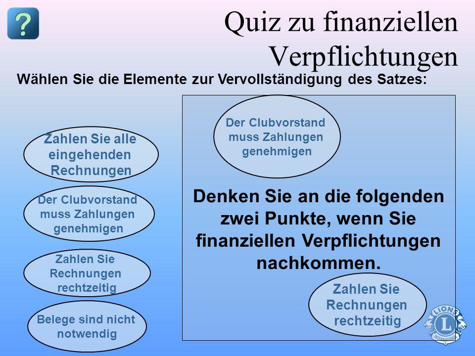 Quiz zu finanziellen Verpflichtungen