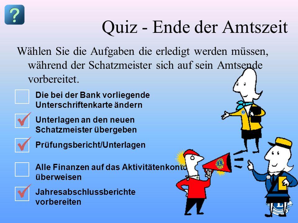 Quiz - Ende der Amtszeit