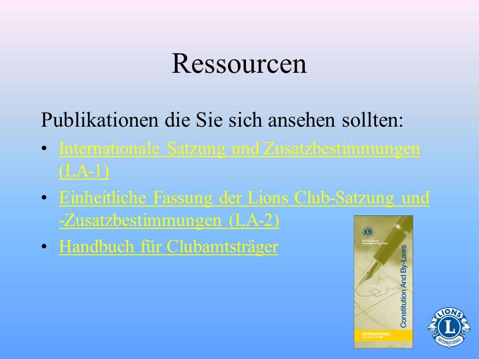 Ressourcen Publikationen die Sie sich ansehen sollten: