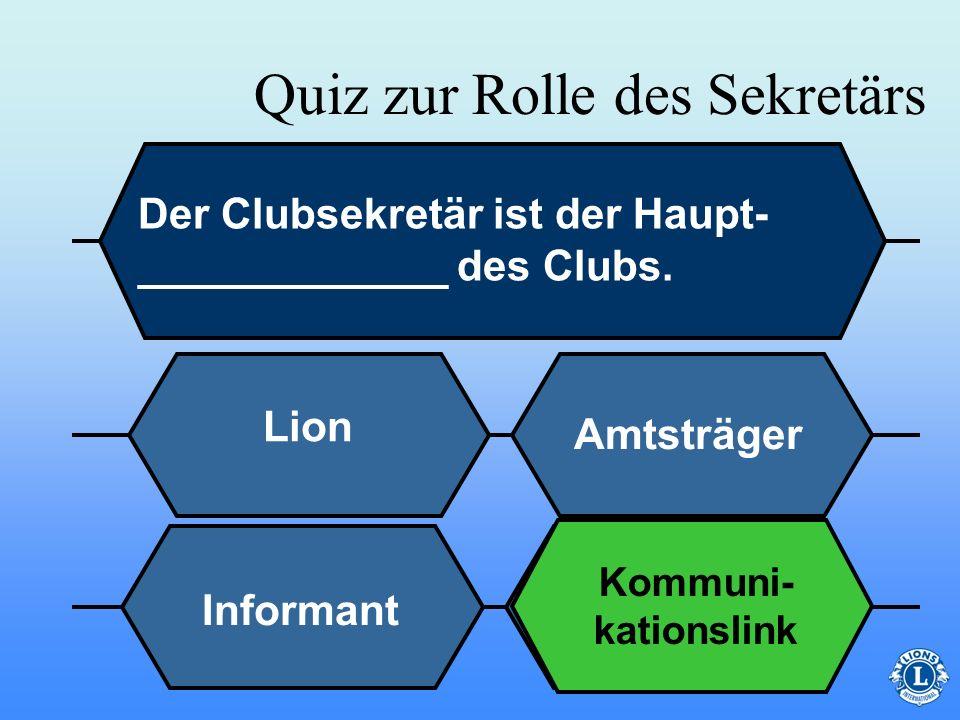 Quiz zur Rolle des Sekretärs