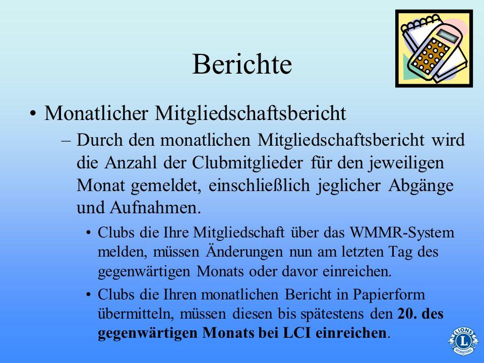 Berichte Monatlicher Mitgliedschaftsbericht