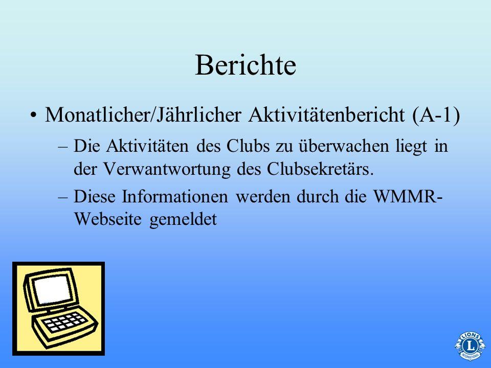 Berichte Monatlicher/Jährlicher Aktivitätenbericht (A-1)